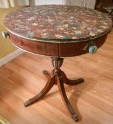 Antique Table With Fibre On Top Available