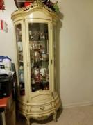 Antique Showcase In Light Cream Colour Available