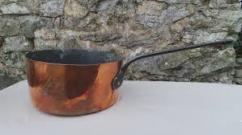 Antique Copper Pan In Superb Condition