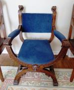 Antique Chair With Velvet On Top