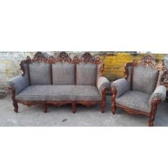 Antique Sofa Set In Solid Wooden Condition