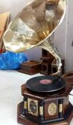 Antique Gramophone With Record and pins