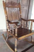 Antique solid teak wood rocking chair