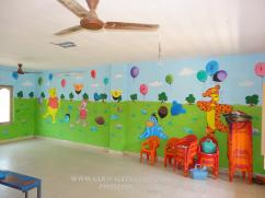 Nursary class Room wall Decoration in Hyderabad