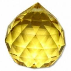 Yellow Crystal ball 40mm Fengshui Vastu