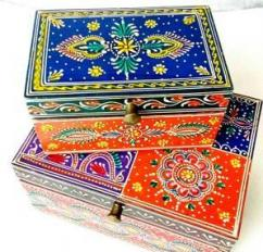 Colorful Hand Painted Ornament Box