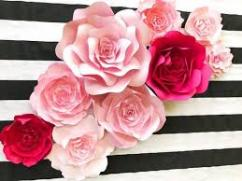 Beautiful Paper Flowers In Different Colors