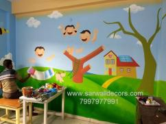 colourful school wall Art painting in Hyderabad