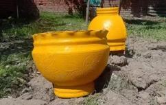 Fiber glass flowerpots