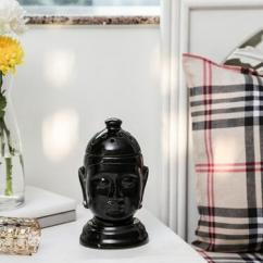 Ceramic Buddha Black Electric Diffuser