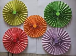 Paper Fans for Decoration Events and Weddings
