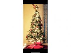 5 feet tall Christmas tree with ornaments