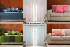 Window Door Curtains Divan Set Cushion Covers