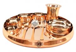 Designer Copper Thali Set