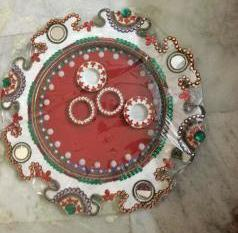 Lovely Plate For Aarti Purpose