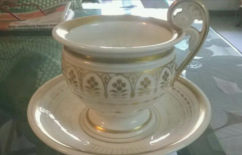 Antique Saucer With Cup