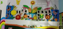 pre school class room themes wall painting in Hyderabad