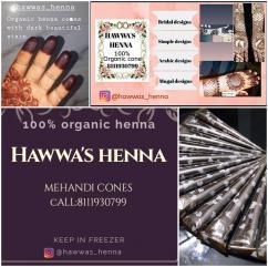 Organic henna cones