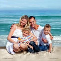 Family Portraits - Digital Portrait Painting Service by Oilpixel