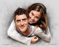 Couple Portraits - Digital Portrait Painting Service by Oilpixe
