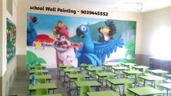 Playschool Cartoon Painting Works in Kota,School Wall Paintings in Kota