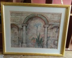 Palace entrance painting