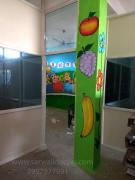 school pillar wall painting in Hyderabad