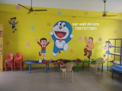 Awesome play school wall Art painting in Hyderabad