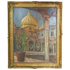 Antique painting with beautiful framing