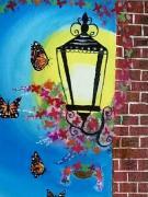 beautiful lamp painting
