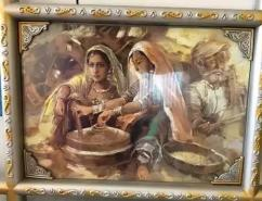 painting of local culture with inbuilt frame