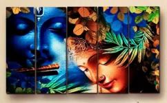 4.3ft x 2.5ft mdf wooden wall painting