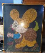 beautiful Mouse stone painting