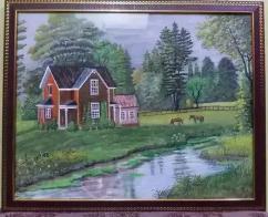 Landscape nature painting
