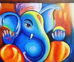 beautiful ganesha Canvas painting