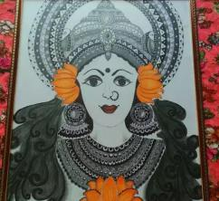Painting laminated with wooden frame