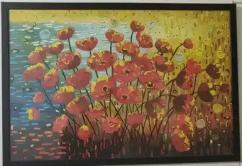 Textured Painting with wooden frame