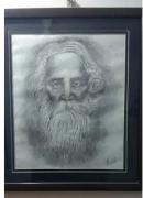 Rabindranath Tagore handmade portrait