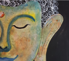 Original Framed buddha painting