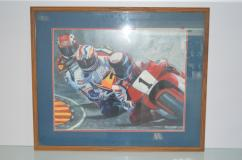 Bike Race Poster Signed by James Crespinel - Paintings