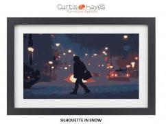 Silhouette In Snow Wall Art