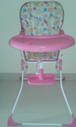 High Chair in Light Pink Color