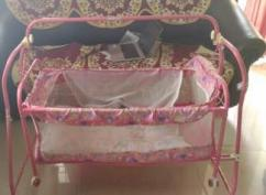 Pink Coloured Cradle Available