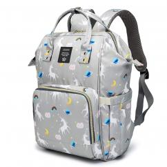 Baby Diaper Bag For Traveling Unicorn Gray