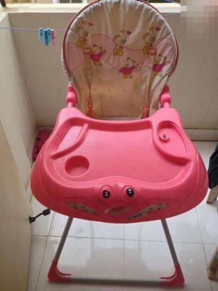 Pink colour Baby High Chair for sale
