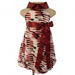 Geometric Print Halter Dress For Your Little Angel From Faye