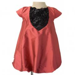 Brickred Rosette Super Cute Dress For Your Tiny Toddlers