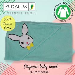 Kural 33,   Organic baby hood , hooded towel , organic hood  ,012 Months