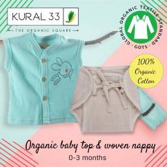 Organic baby sets  organic baby top and nappy  organic top