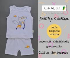 Kural 33 , organic knit top and bottom , baby knit top , baby knit bottom , orga